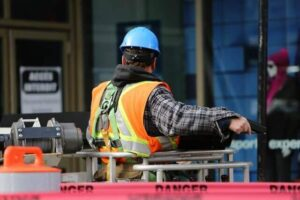 workman wearing personal protective equipment (PPE)