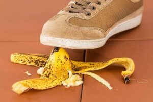 foot over a banana skin health and safety in manufacturing