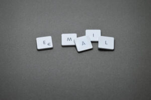 email spelt out in scrabble letters
